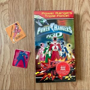 Vintage Power Rangers in 3D VHS Tape & Stickers